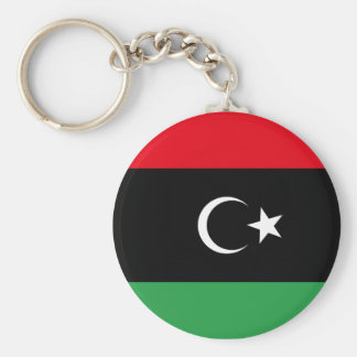Free Libya Flag Basic Round Button Key Ring