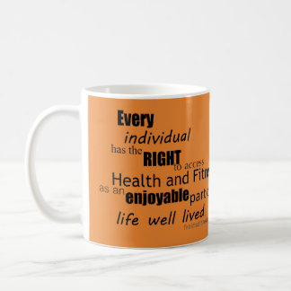 Free Living Fitness Mission Statement Mug Orange