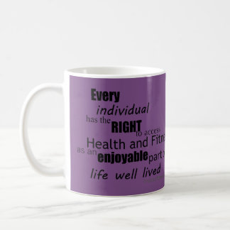 Free Living Fitness Mission Statement Mug  Purple