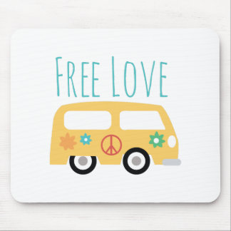 Free Love Mouse Pad