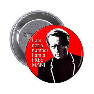 Free Man 6 Cm Round Badge