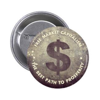 Free Market Capitalism Pinback Button