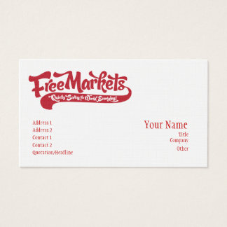 Free Markets Business Card