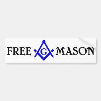 Free Mason Bumper Sticker