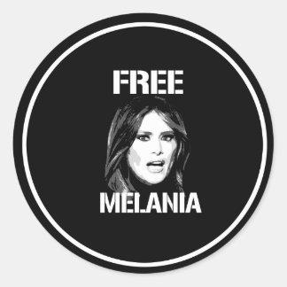 FREE MELANIA - WHITE - CLASSIC ROUND STICKER