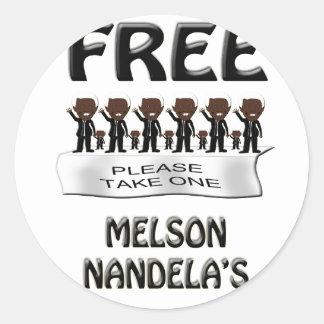 free melson nandelas round sticker