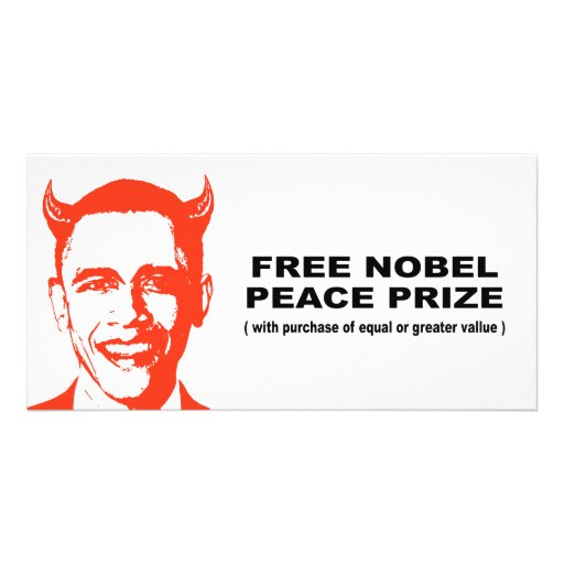 Free Nobel Peace Prize with purchase of equal valu Picture Card