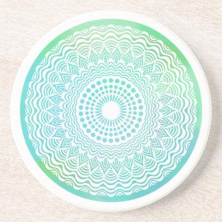 Free Ocean Sandstone Coaster   Mandala Coaster