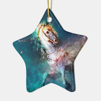 """Free of the Carousel"" Ceramic Star Decoration"