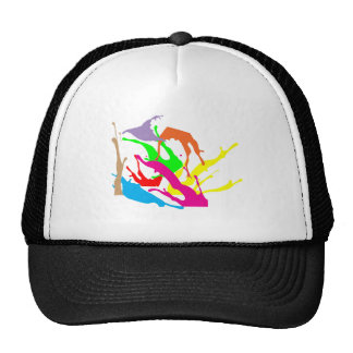 free paint abstract designs mesh hats