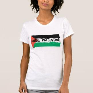 FREE PALESTINE BLOODY TEXT WAVY FLAG T-Shirt