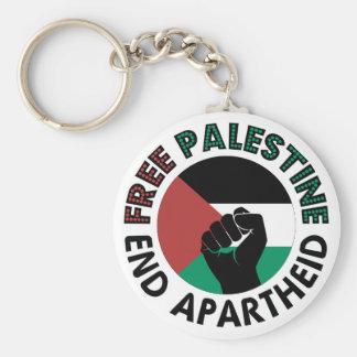 Free Palestine End Apartheid Palestine Flag Basic Round Button Key Ring
