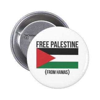 Free Palestine from Hamas 6 Cm Round Badge