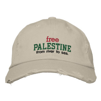 Free Palestine - from river to sea. Embroidered Hat