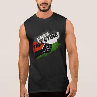 Free Palestine Grunge Flag Sleeveless Shirt