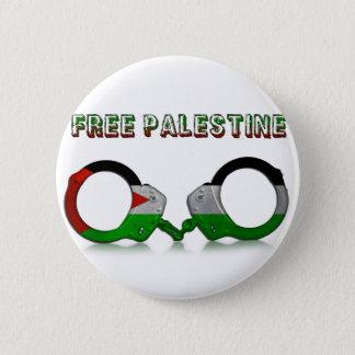 Free Palestine Handcuffs 6 Cm Round Badge