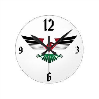 FREE PALESTINE - WINGS OF FREEDOM ROUND CLOCK