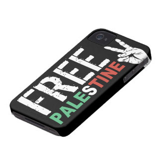 Free Palestine with Peace Sign iPhone 4 Case