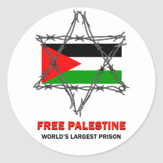 FREE PALESTINE: WORLD'S LARGEST PRISON STICKER