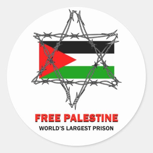 FREE PALESTINE: WORLD'S LARGEST PRISON STICKER