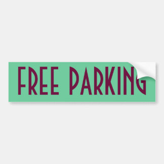 Free Parking Bumper Sticker