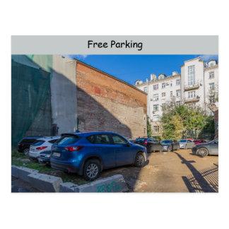 Free parking postcard