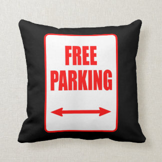 Free Parking Sign Premium Couch Pillow