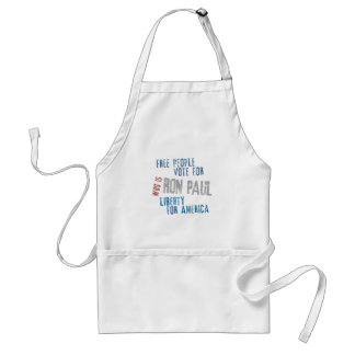 Free people vote for Ron Paul Adult Apron