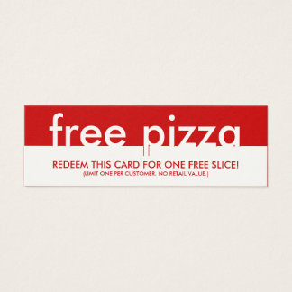free pizza coupon mini business card