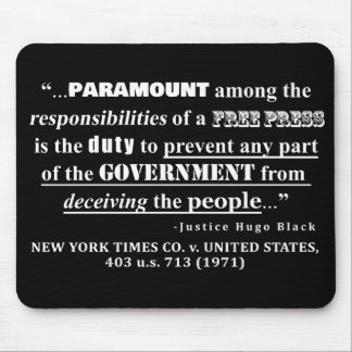 Free Press Quote Case Law (1971) Mouse Pad