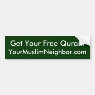 Free Quran Bumper Sticker