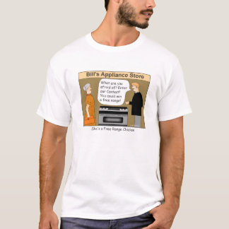 Free Range Chicken Cartoon T-shirt