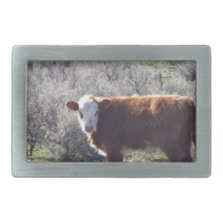 Free Range Cow Rectangular Belt Buckles