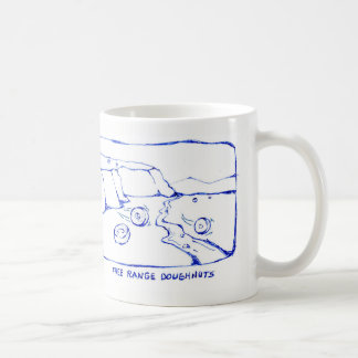 Free range doughnuts coffee mug