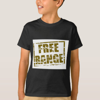 Free range rubber stamp effect T-Shirt