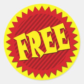 FREE RETAIL SALES LABEL CLASSIC ROUND STICKER
