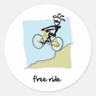 """Free Ride"" Classic Round Sticker"