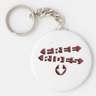 Free Rides Basic Round Button Key Ring