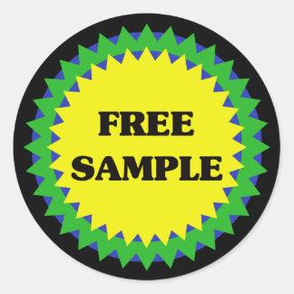 FREE SAMPLE Retail Sale Sticker
