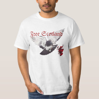 Free Scotland Map Flying Pigeon T-shirt