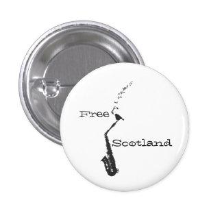 Free Scotland Saxophone Songbird Pinback 3 Cm Round Badge