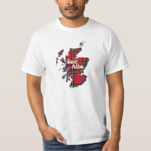 Free Scotland Scottish Map Saor Alba T-shirt