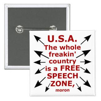 Free Speech Coast to Coast Buttons
