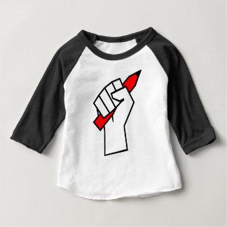 Free Speech Pencil in Fist Baby T-Shirt