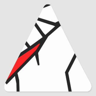 Free Speech Pencil in Fist Triangle Sticker