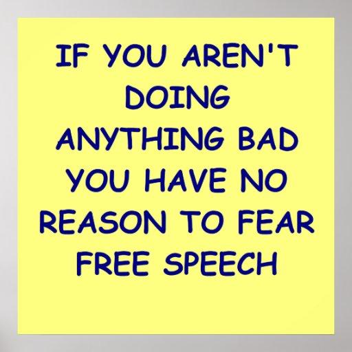 free speech posters