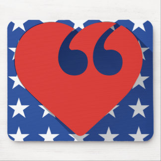 Free Speech USA Love Mouse Pad