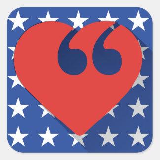 Free Speech USA Love Stickers