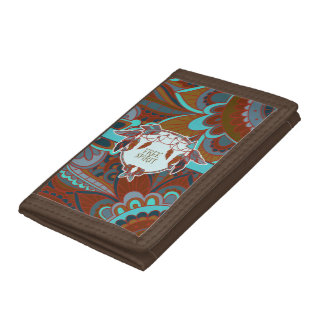 Free Spirit, Boho Tri-fold Wallets