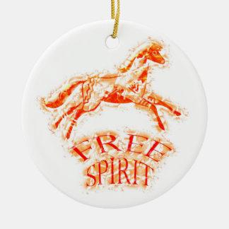 Free Spirit Ceramic Ornament